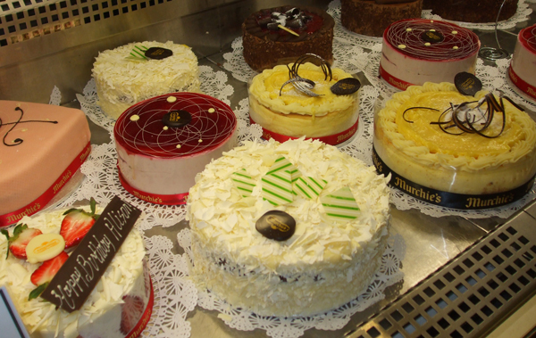Cakes available to order at Murchie's Victoria store
